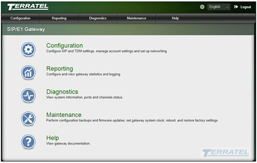 Main Menu of the Web Management Interface