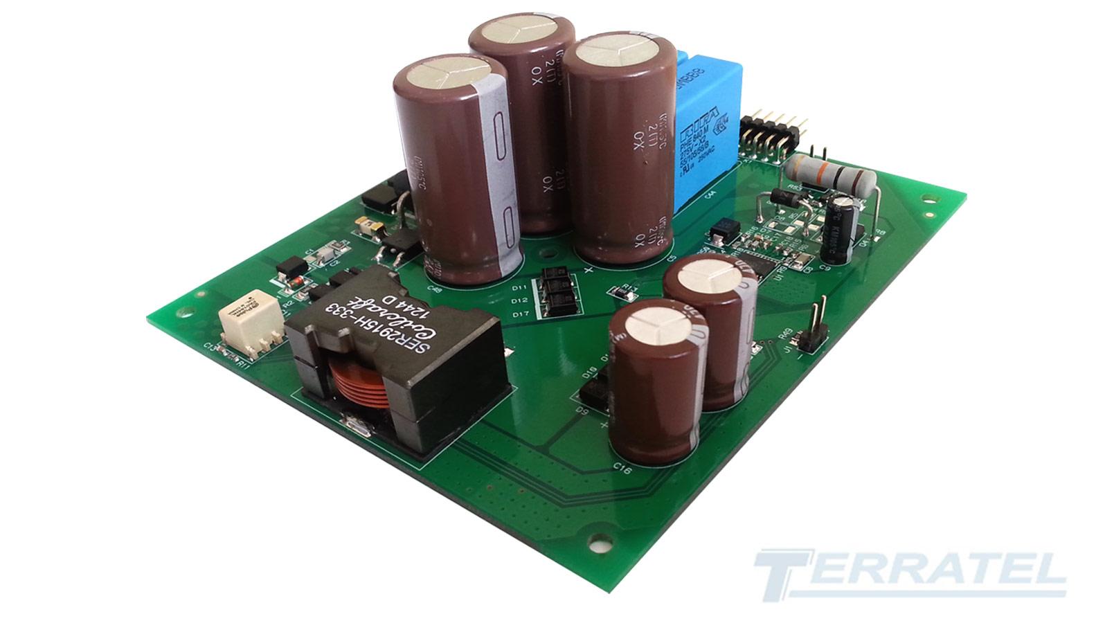 Buck-boost DC-DC конвертер преобразователь, вход 35В, 160В - выход 48В или 24В