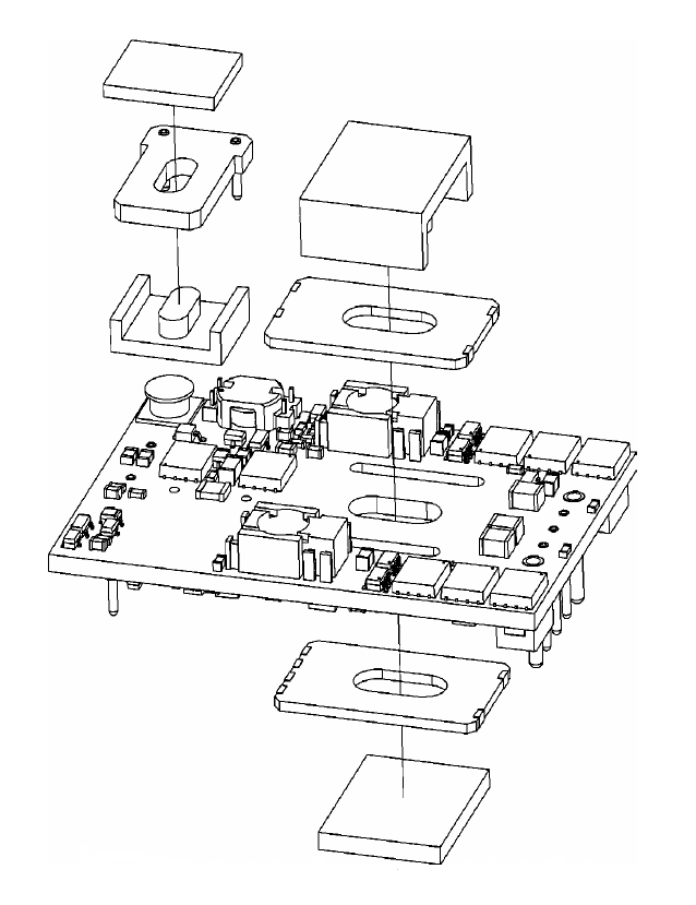 Exploded View of the DC-DC Converter circuit