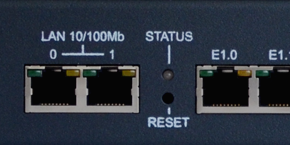 100/1000 Base-T Ethernet Backup Port and LED Indication