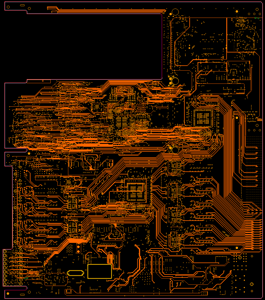 AESW inner layer routing example, ADSL inner layer routing, high speed pcb layout design