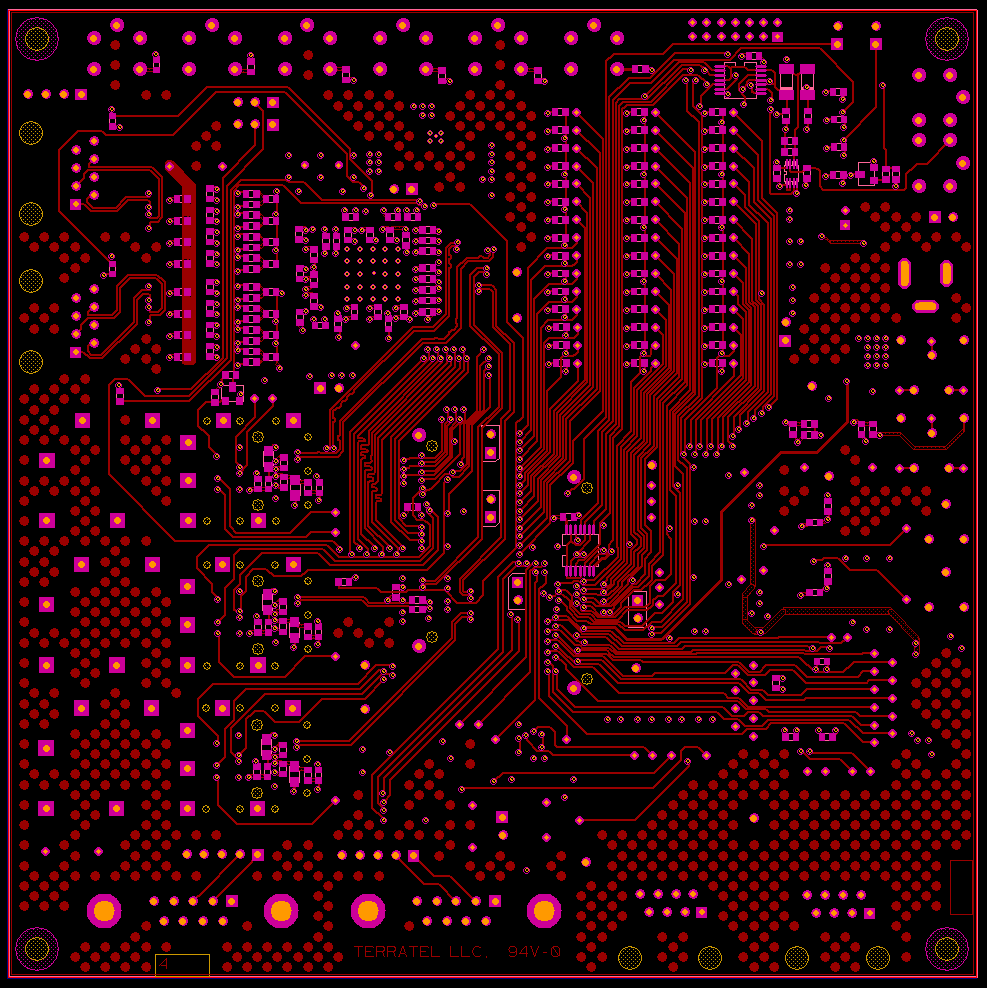 Artix_STM bottom layer routing, HDI PCBs, HDI Any-Layer PCBs, microvias