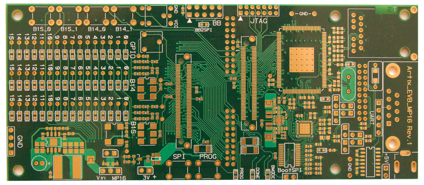 Artix_TDM Evolution development board, PCB, Printed Circuit Board, Layout, Board design