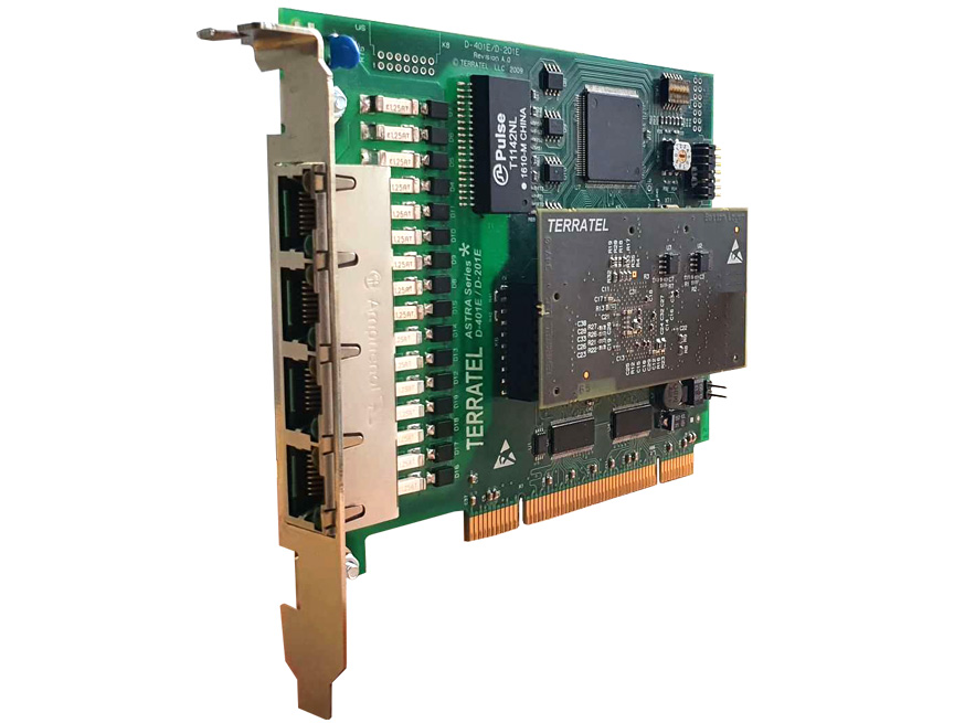 photo digital telephone card up to 4 E1 for Asterisk with echo cancellation module