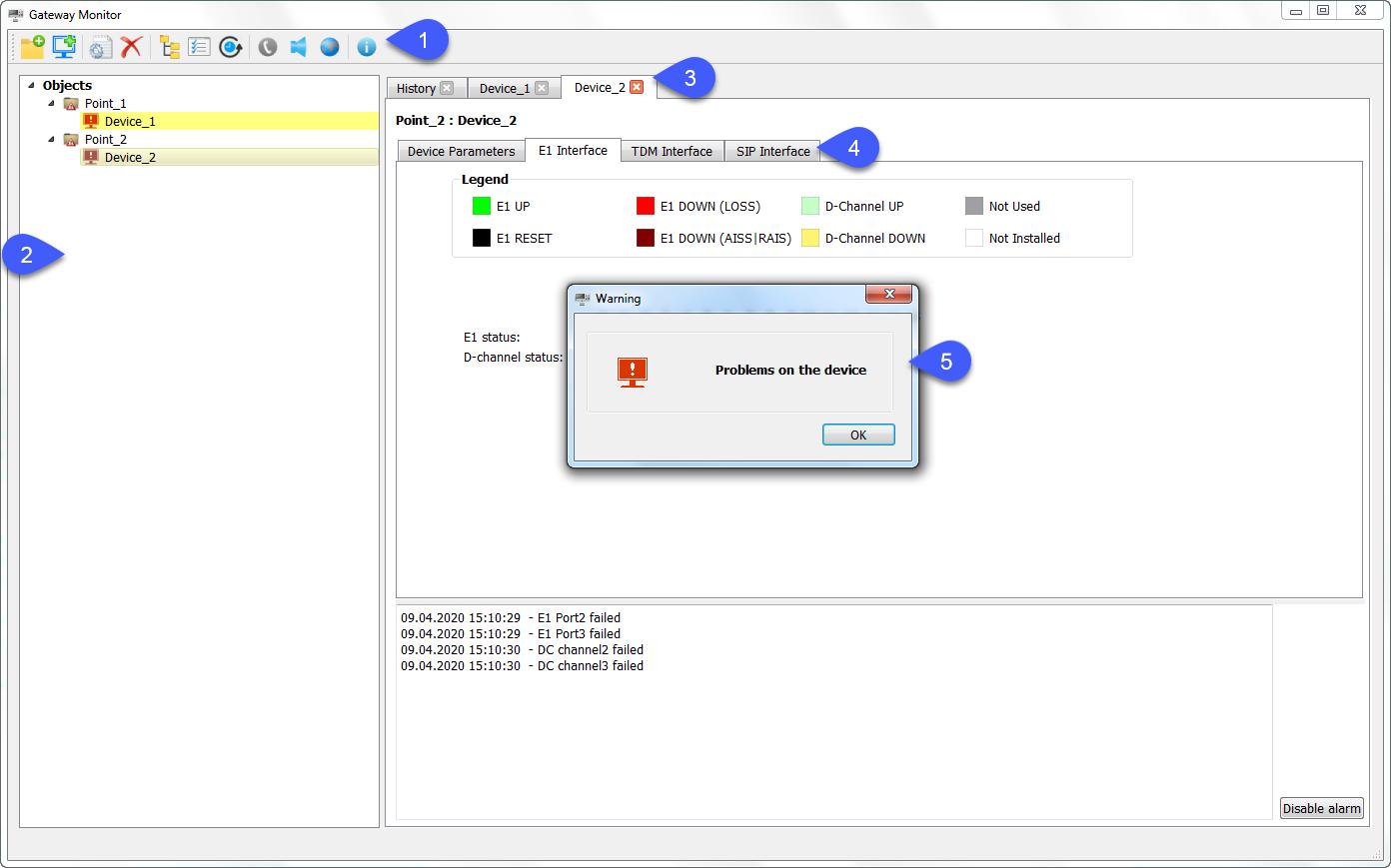 Gateway Monitor program interface appearance