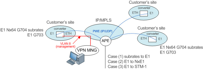Scenario P2MP Point to Multi-Point Network Diagram